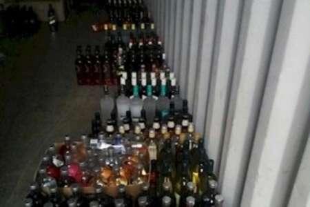 کشف 256 بطری انواع مشروبات الکلی خارجی در ورودی مشهد