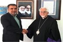دیدار اسقف اعظم کاتولیک ایران با رئیس فرهنگ و ارشاد اسلامی نور