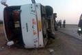 پنج کشته و زخمی در واژگونی اتوبوس محور دشت ارژن- تنگ ابوالحیات