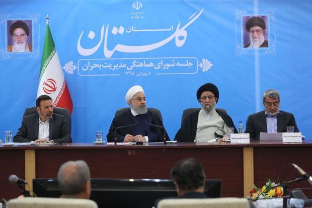 روحانی: تا پایان مشکل، تخلیه سیلاب و ترمیم خرابی ها در کنار مردم هستیم/ پیش بینی حوادث اصل است/ دولت از بنیاد مسکن برای بازسازی منازل حمایت می کند