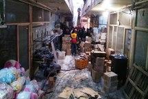 آتش سوزی در بازار تبریز خاموش شد