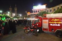 آتش نشانان مشهد به حالت آماده باش درآمدند
