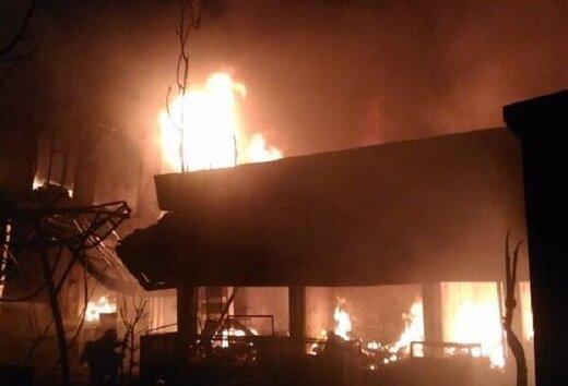 انبار کفش در بازار بزرگ تبریز آتش گرفت  حضور به موقع آتش نشانی