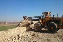 36 هکتار از اراضی ملی قلعه گنج  رفع تصرف شد