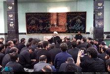 عزاداری ظهر تاسوعا در محضر استاد امجد + تصاویر
