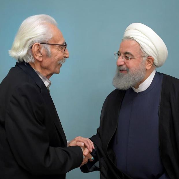 پست صفحه اینستاگرام رئیس جمهور به مناسبت درگذشت استاد جمشید مشایخی