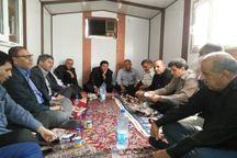 اعضای فدراسیون فوتبال ازموکب شهدای ورزشکار درچذابه دیدن کردند