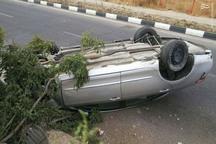 واژگونی خودرو در خداآفرین 2 کشته و 2 مصدوم بر جای گذاشت