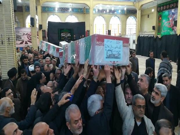پیکرهای مطهر 6 شهید گمنام در اهواز تشییع شد