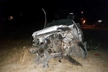 واژگونی خودروی سواری در زنجان یک کشته برجا گذاشت
