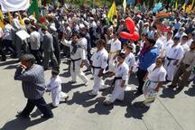 جامعه ورزش همدان یکپارچه در راهپیمایی قدس شرکت می کند