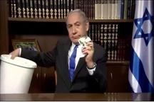 نتانیاهو سند سیاسی جدید حماس را پاره کرد و در سطل زباله انداخت+ عکس