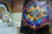 نمایشگاه 'گذر در وادی رنگ' در مهاباد گشایش یافت