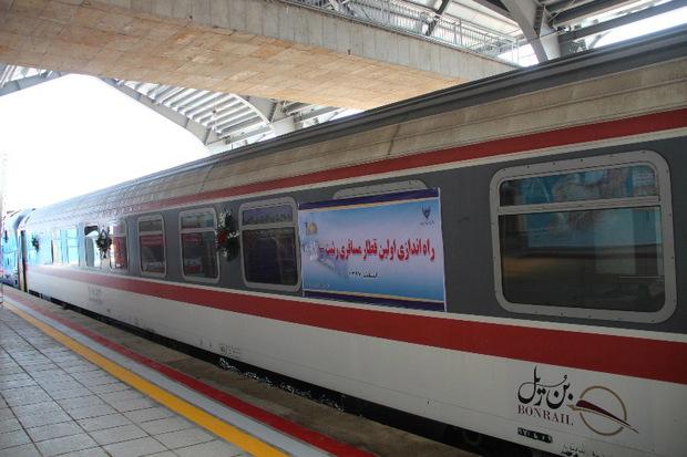 راه آهن قزوین- رشت با حضور رئیس جمهوری بهره برداری شد