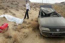 یک کشته در پی واژگونی سواری پژو در قزوین