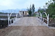 پل روستای تکی آباد تالش به بهره برداری رسید