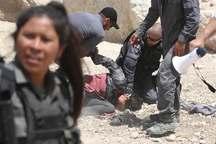 اقدام وحشیانه نیروهای صهیونیستی علیه زنان فلسطینی + فیلم و عکس