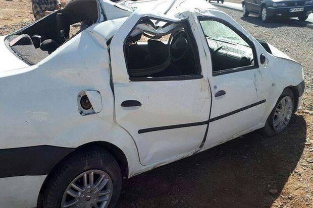 واژگونی خودرو در جاده  یزد- بافق سه نفر را روانه بیمارستان کرد