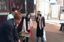 نقوش خیره کننده فرش ترکمن خراسان شمالی در نمایشگاه صنایع دستی تهران