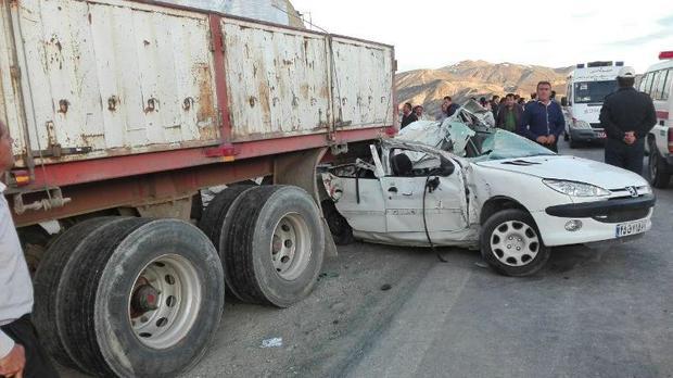 تصادف درجاده بروجرد - ملایر یک کشته برجا گذاشت