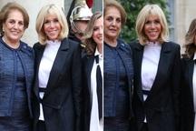 همسر و دختران رئیس جمهور لبنان در کنار بانوی اول فرانسه+ عکس