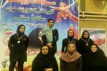 نایب قهرمانی سیستان و بلوچستان در رقابت های ووشو بانوان کشور