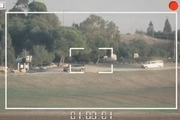 لحظه اصابت دقیق موشک مقاومت به اتوبوس حامل نظامیان رژیم صهیونیستی