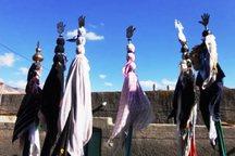 استقبال از محرم با آیین سنتی علم بندان در دامغان