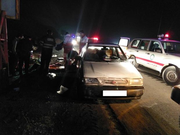 واژگونی آمبولانس بیمارستان هشترود در اتوبان پیامبر اعظم (ص)