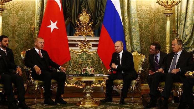 دیدار اردوغان و پوتین در مسکو+عکس