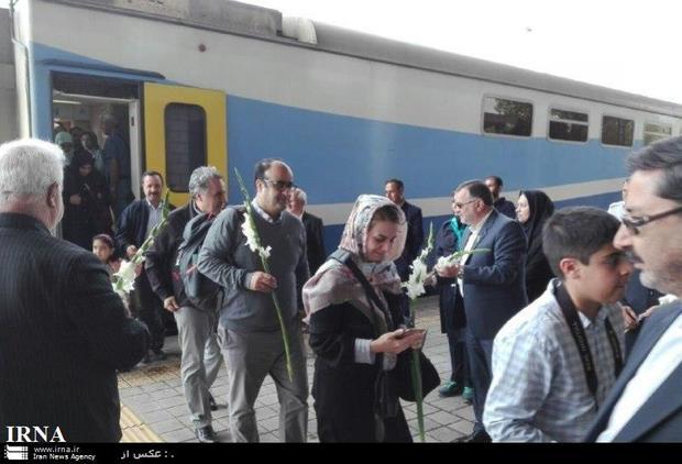 قطار مشاهیر ایران به نیشابور رسید