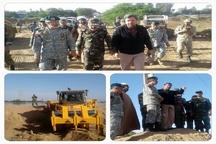بازدید فرمانده کل ارتش از مناطق سیل زده خوزستان