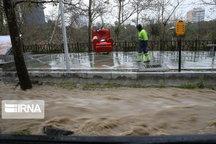 بارش ۱۰۳ میلیمتر باران در فومن طی دو ساعت