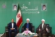 نشست خبری روحانی با اصحاب رسانه در خراسان شمالی