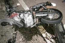 واژگونی موتور سیکلت در بزرگراه حکیم تهران 2 مصدوم برجا گذاشت