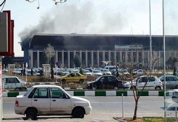 آتشسوزی بخشی از ساختمان ایستگاه راه آهن مشهد