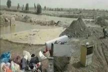 سیلاب 6 روستای هیرمند را در معرض آبگرفتگی قرار داده است