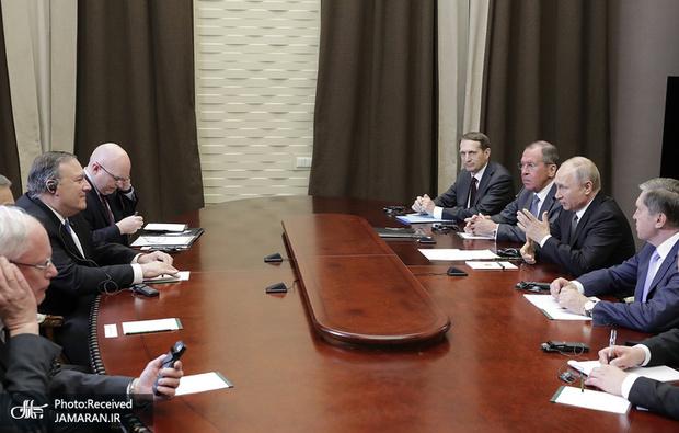 مذاکرات بی نتیجه پوتین و وزیر خارجه آمریکا در سوچی روسیه