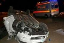 یک کشته در واژگونی خودرو سواری در محور رازقان