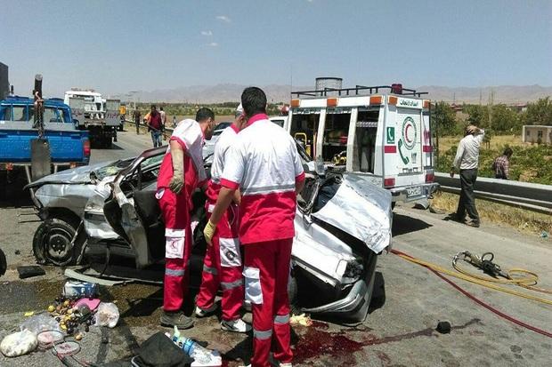 تصادف در گردنه پدران سربیشه 2 کشته و یک مصدوم داشت