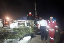 مصدومان تصادف اتوبوس و تانکر در محور کاشان- نطنز افزایش یافت