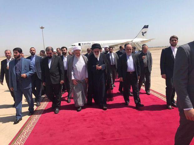 آیتالله شاهرودی و محسن رضایی وارد پایتخت عراق شدند + عکس