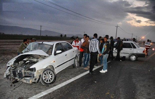 دو تصادف در معابر بین شهری گلستان 13 مجروح برجای گذاشت