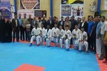 تیم کاراته گلپایگان مقام اول جام شهید صافی را کسب کرد