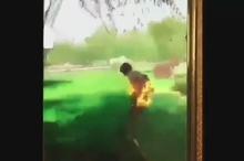 آتش زدن مردم در پارک توسط چند جوان