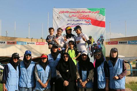 قهرمانی عبدی و یزدانی  در لیگ دوچرخه سواری جوانان و بزرگسالان