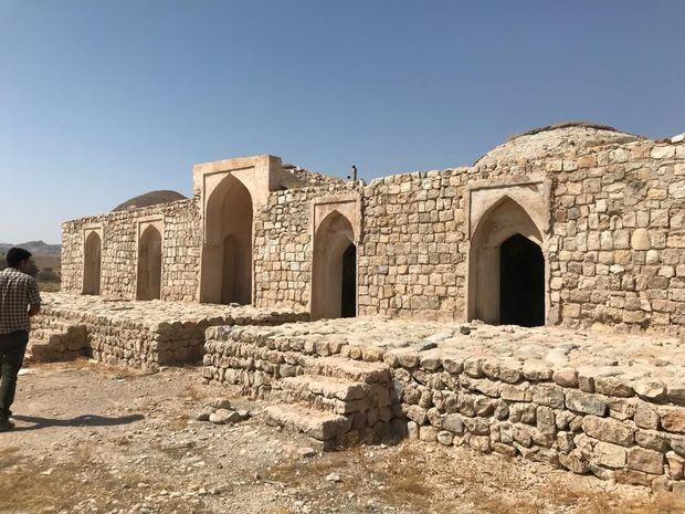 مرمت مقاوم سازی کاروانسرای تقی خانی بندرخمیر آغاز شد