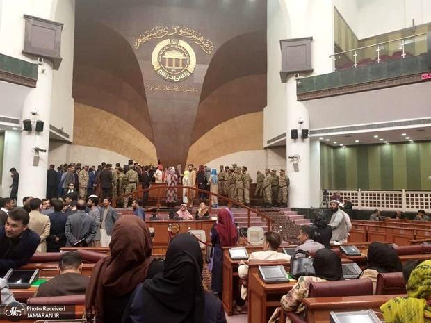 درگیری در صحن مجلس افغانستان+ تصاویر