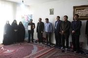 جهادگران جهاددانشگاهی اردبیل با خانواده شهید مدافع حرم علی سیفی دیدار کردند