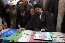 مراسم تشییع پیکر مطهر شهید حمله تروریستی مازیار سبزعلی زاده در حرم مطهر امام خمینی(س)